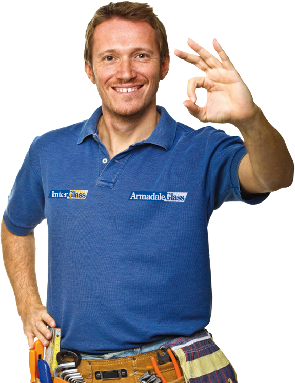 Image of Tradesman okay hand gesture